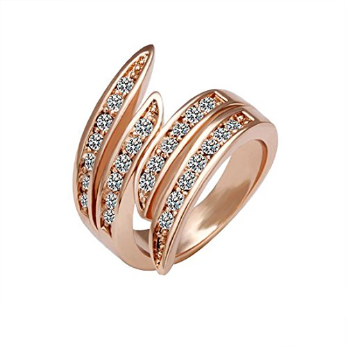 joyliveCY 2018Fashion Pretty Hochzeit Finger Ring Schmuck Frau Classic Fancy Lady 's Schlange Stil Ring UK Größe L 1/2 -