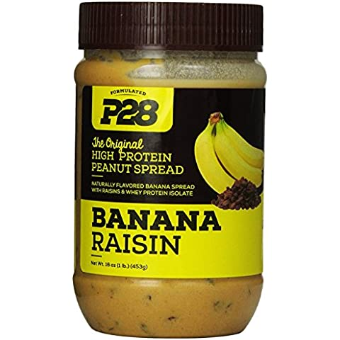 P28 High Protein Banana Raisin Spread 16 oz - 1 Lb Banana