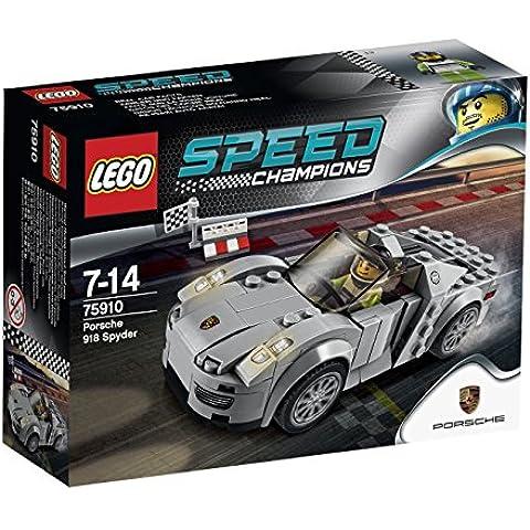 LEGO Speed Champions 75910 - Porsche 918 (Bandiera A Scacchi Set)