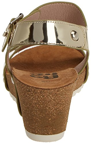 Refresh 63285, Chaussures Compensées Femme Gold (Oro)