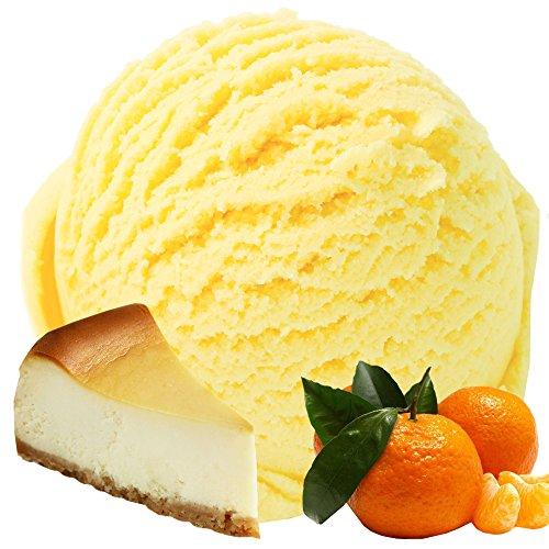 Käsekuchen-Mandarine Geschmack für Speiseeis Gino Gelati Eispulver Softeispulver für Ihre Eismaschine (1kg)