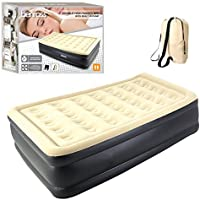 Benross 88030 High Raised Airbed with Built in Pump, Quick & Easy to Inflate, Vinyl Beige/Black, Double (135 x 190 cm)