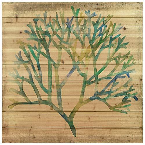 Empire Art Direct Coral Print Art,Solid Wood Wall Decor, x 36' Ready to Hang, Living Room, Bedroom & Office Wandkunst, Massivholz, Watercolor 1.5 -