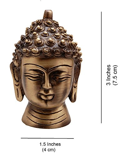 Two Moustaches Two Moustaches Brass Buddha Head Showpiece | Home Decor |