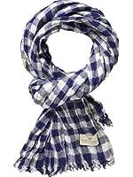 Scotch & Soda Herren Tuch 12010270004 - Beach scarf - fresh blue/white serie