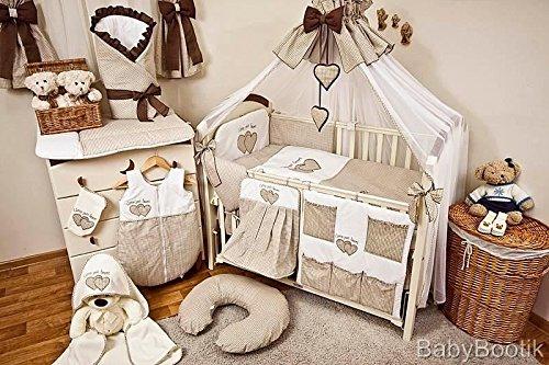 Nursery 12pezzi, Paracolpi, Set Biancheria per lettino