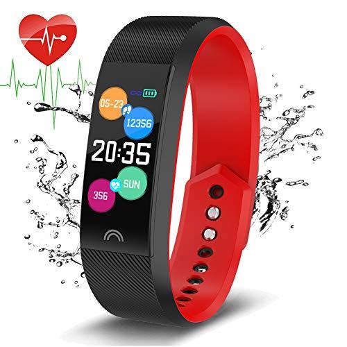 LIGE Fitness Tracker Smartes Armband IP68 Wasserdicht Aktivität Tracker Mit Pulsmesser Schlafmonitor Sport Armband Schrittzähler Kalorienzähler Sportuhr Für Frauen Männer Kinder Für Android/IOS