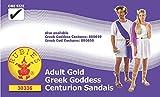 Rubies 's Oficial Oro Diosa Romana Sandalias, Disfraz para Adultos–Talla única