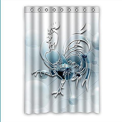 Coutume Gallic Rooster fenêtre rideau Window Curtain lumière preuve Polyester usine pour chambre ou salon 132mètre-carré x 183mètre-carré (une pièce), Polyuréthane, D, 52(inches)x72(inches)