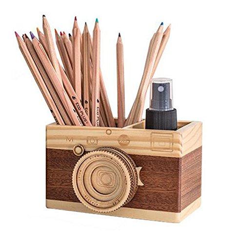 Obling legno fatto a mano portapenne creativo artigianato in legno contenitore della penna pennello piatto ufficio decorazione a multicolore