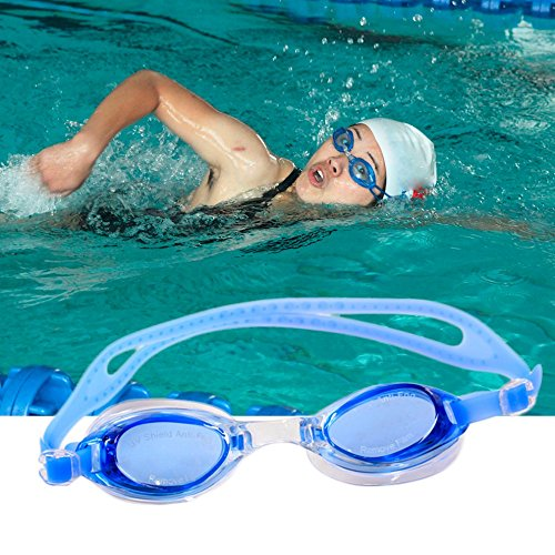 Anti Fog, Swimming Goggles With Adjustable Soft Silicone Strap + Ear Plugs + Soft Carry Case (For All Ages)  available at amazon for Rs.76