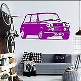 Geiqianjiumai Hohe qualität große Mini Auto automatische Aufkleber Schlafzimmer wandaufkleber künstler Dekoration Vinyl Aufkleber Wohnzimmer Papier Zimmer Wand lila 30X57 cm