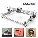 TopDirect 5500mW Laser Graviermaschine CNC Lasergravierer Engraving Carving Maschine Gravur Schnitzmaschine DIY Laserdrucker mit Schutzbrille, Gravurfläche 350x500mm