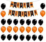 #8: Theme My Party Halloween Banner with Balloon for Halloween Decoration