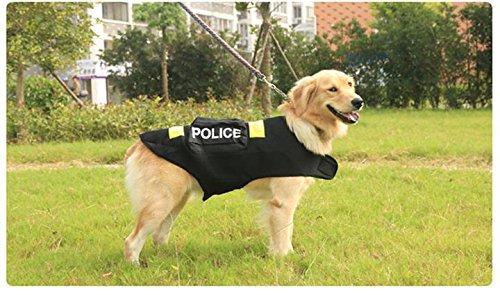 Imagen de omgo ropa para perro grande policía disfraz chaleco chaqueta de verano perro gato estampado fluorescente 3tamaños