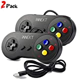 iNNEXT 2 x SNES USB Controller GamePad Joypad SNES Controller Joystick für Windows PC Mac Raspberry Pi ( Multi-Color Keys)