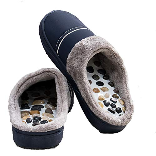 Zqword Cómodas Zapatillas para El Cuidado del Pie Acupresión Masaje Uso Familiar Zapatillas De Invierno Unisex,36~38