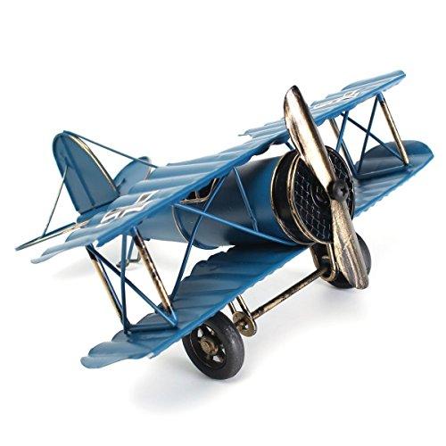 Este es un modelo de avión vintage hecho a mano y una gran colección de artesanía.  Presenta el primer sueño de la gente a volar con ambición e informal.  Son modelos de warcrafts del barón rojo de Alemania. Saborea antigüedades. Bien para la decorac...