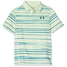 Under Armour Kid's Tour Tips Bunker Polo, Phosphor Green/Phosphor Green/Wire (369), YLG