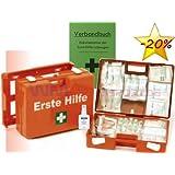 Erste-Hilfe-Koffer M1 für Betriebe DIN 13157 EN 13157 Stand 2016 incl. Verbandbuch & Hände-Antisept-Spray