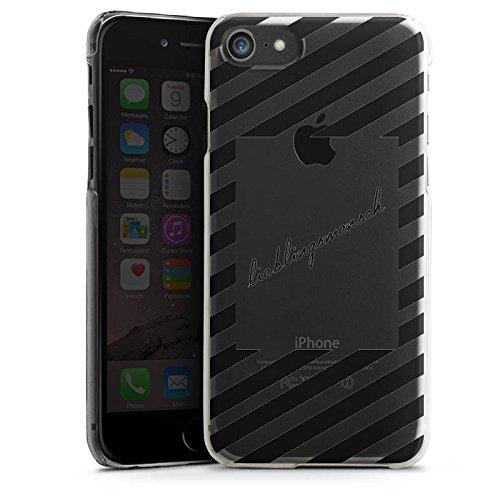 Apple iPhone 8 Silikon Hülle Case Schutzhülle Transparent mit Motiv Lieblingsmensch Statement Hard Case transparent