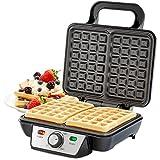 Andrew James Belgian Waffle Maker, 2 Slice, 1000 Watts, Adjustable Temperature