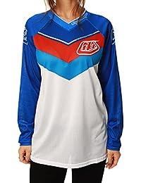 Camiseta de MX mujer Troy Lee Designs 2014 GP Air Airway Blanco-azul