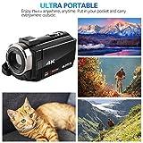TianranRT❄DV22 3 pollici 4K WIFI LCD HD 1920P 48MP 16X Zoom digitale Videocamera con videocamera DV(Nero)
