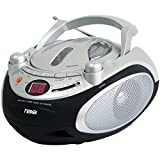 NAXA Electronics Portable CD Player and AM/FM Stereo Radio (Silver)
