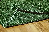 Natur Teppich Bauwolle Kelim Prico Grün in 8 Größen