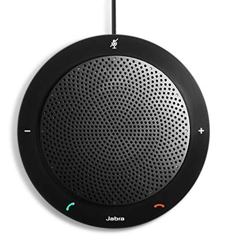 Jabra Speak 410 MS mobile USB-Konferenzlösung für Softphones/UCC, Meetings mit bis zu 4 Personen in Sekunden starten, Plug-and-play (Schwarzen Bundle Vinyl Tasten Die)