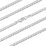 Catena argento 925, catena argento donna, catena argento uomo, modello Grumetta, catena donna argento, catena uomo, catena donna argento 925, puoi indossarla da solo o con un ciondolo.