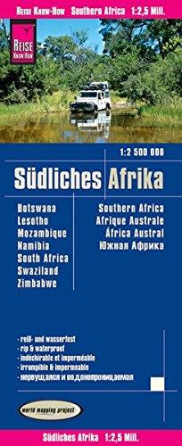 Reise Know-How Landkarte Südliches Afrika (1:2.500.000) : Botswana, Lesotho, Mosambik, Namibia, Simbabwe, Südafrika, Swasiland: world mapping project