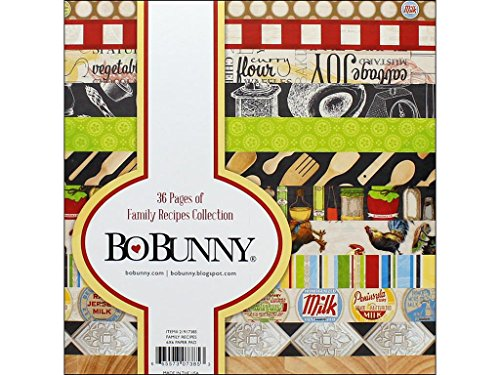 Bo Bunny Family Recipe Papier Pad 6x 6, Familie Rezepte, 12Designs/3Jedes