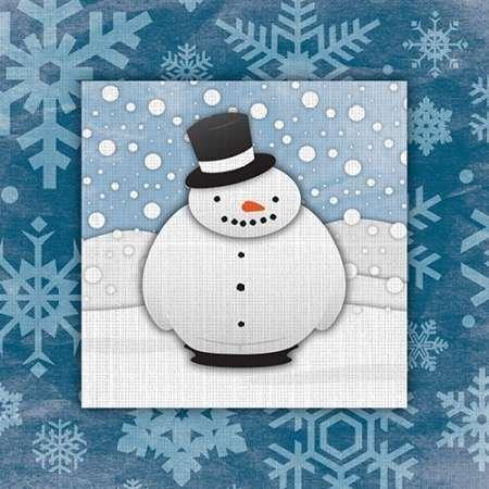 feelingathome. it, impresión sobre lienzo 100% algodón sin muñeco de nieve cm 85x 85cm (personalizables a opcional)