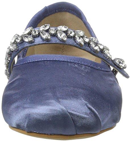 Buffalo London Damen 216-6124 Satin Geschlossene Ballerinas Blau (Blue)