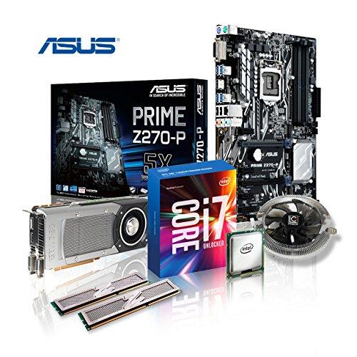 Memory Aufrüst-Kit Intel Core i7-7700K 7. Generation (Quadcore) Kabylake 4x 4.2 GHz, 8 GB DDR4 2133Mhz, ASUS PRIME Z270-P, 2048 MB Nvidia Geforce GTX 1050, USB 3.0, SATA3, 7.1 Sound, M.2 Sockel, GigabitLan, HDMI, MultimediaKIT, Kaby Lake, komplett fertig montiert und getestet