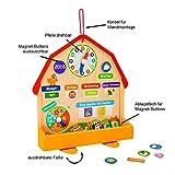MY WAABO - Bunte Lerntafel aus Holz inkl.73 Magentsymbolen / Kinder Lernen spielerisch den Kalender mit Datum, Uhrzeit, Wetter, Jahreszeiten.Lernkalender zum aufstellen oder für die Wand von PSM-Innovation UG (haftungsbeschränkt)