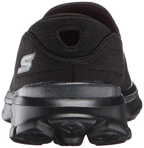 Skechers Go Walk 3Revive, Baskets Basses Femme Noir - Noir