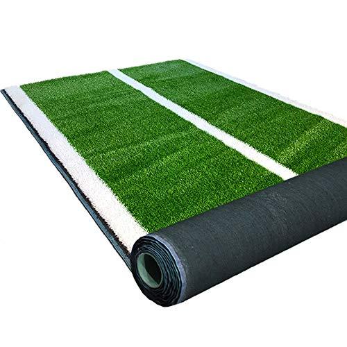 bbgs erba artificiale verde/bianco addensato criptato prato, palestra linea bianca simulazione prato asilo sport pista tappeto plastica falso tappeto erboso balcone corridoio tappetino per esterni p