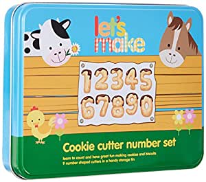 Kitchen Craft Let's Make Let's Make Numeral Cookie Cutter Set