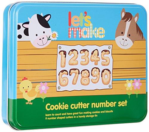 Kitchen Craft Let's Make - Set di stampi per biscotti a forma di numeri