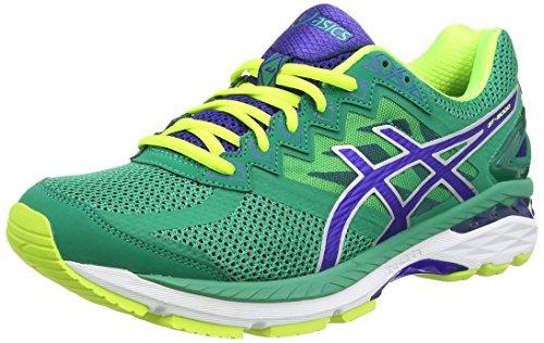 Asics Gt-2000 4, Chaussures de Running Compétition Homme Vert (pine/asics blue/flash yellow 8843)