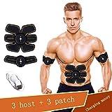Big seller Ceintures Massage Muscle Toner, USB de Charge EMS Abs Trainer Gym Workout Home Fitness Equipment