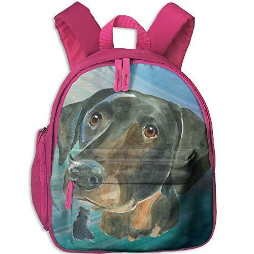Kindergarten Boys Girls Backpack Dog Art School Bag