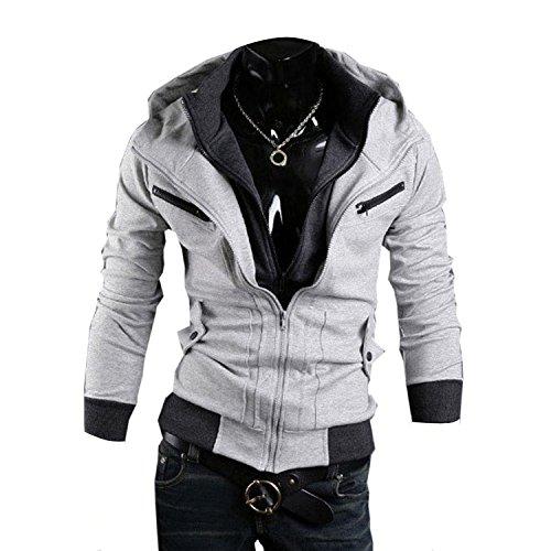 Minetom Herren Jungen Slim Fit Hoodie Lässige Jacke Modische Oberkleidung (Cosplay Creed Kostüme Assassin)