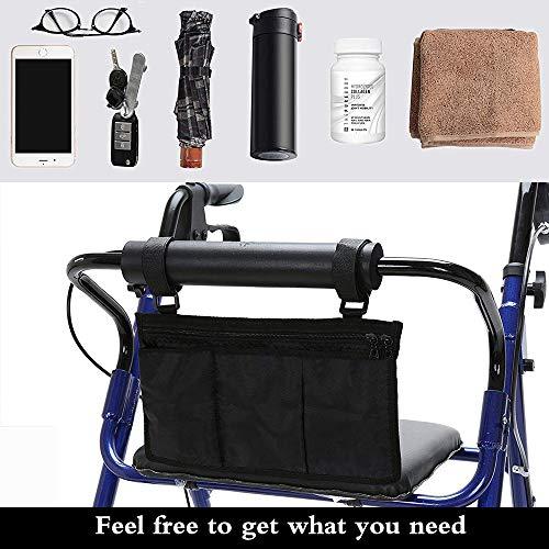 51lWATmsttL - AUVSTAR Bolsa de almacenamiento para silla de ruedas Bolsa,Bolsa de accesorios de silla de ruedas, Personas mayores, discapacitados - Bolsa de silla de ruedas con manos libres. (Negro)
