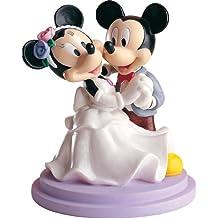 Dekoback 02-08-00150 - Figura de novios para tarta nupcial, diseño de Mickey y Minnie bailando