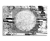 Sinus Art Abstrakt 949-120x80cm SCHWARZ-WEISS Bilder - Wandbild Kunstdruck in XXL Format - Fertig Aufgespannt – TOP - Leinwand - Wand Bild - Kunst Bild - Wandbild abstrakt XXL
