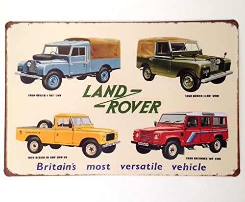 metal-wall-sign-tin-plaque-garage-shed-land-rover-off-roading-defender